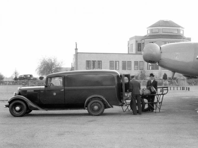 1934 International C-1 Panel Truck retro f wallpaper