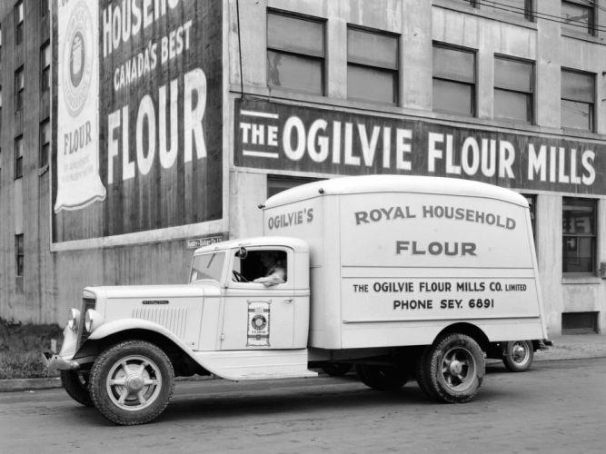 1934 International C-30 Refrigerator Truck retro g wallpaper
