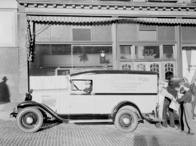 1934 International D-1 Delivery Panel Truck retro wallpaper
