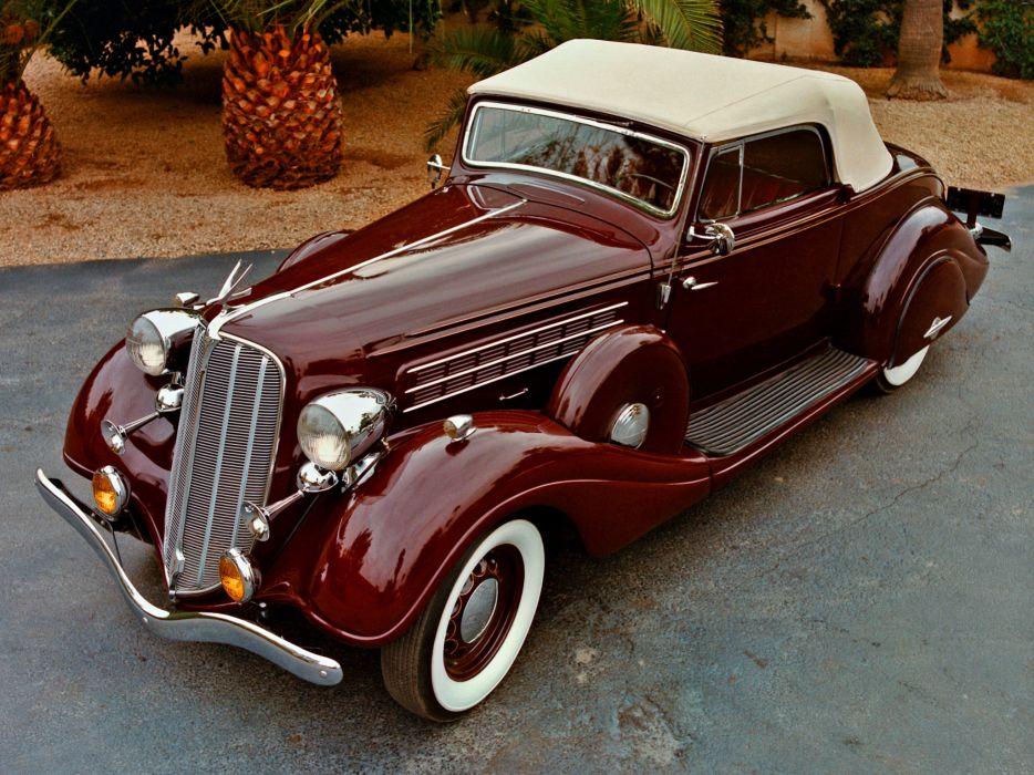 1935 Hudson Deluxe Eight Convertible luxury retro wallpaper