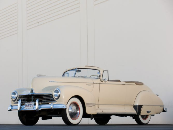 1946 Hudson Super Six Convertible Coupe retro wallpaper