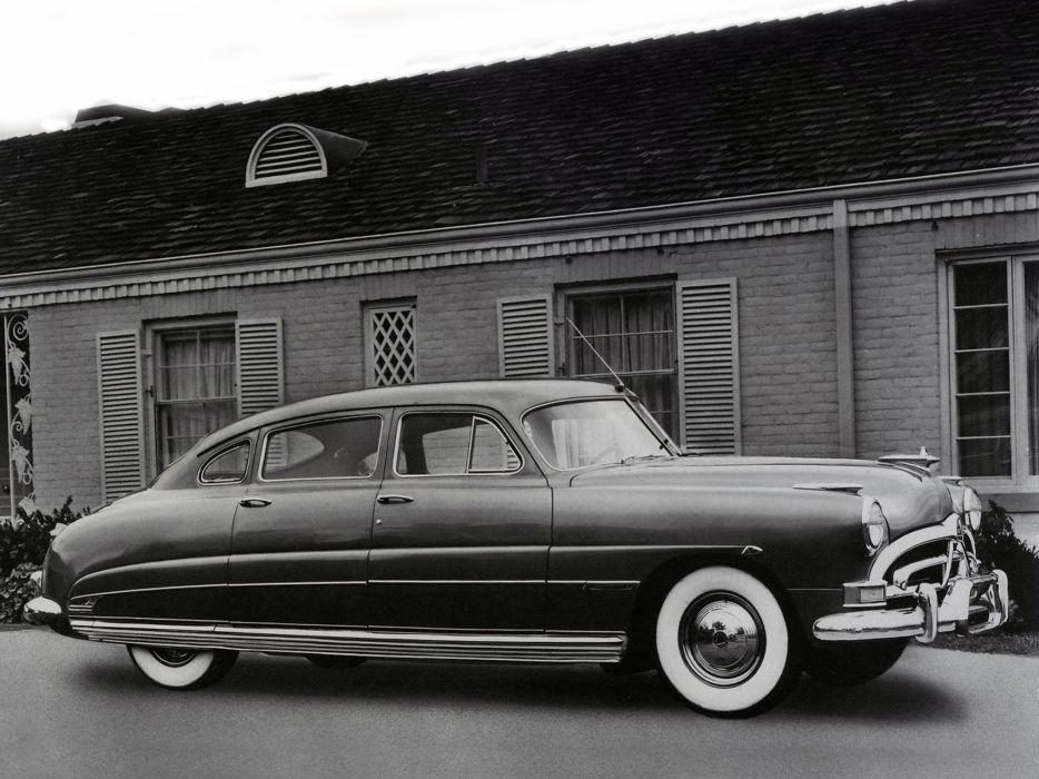 1951 Hudson Commodore Six Custom Sedan Series-6A retro wallpaper