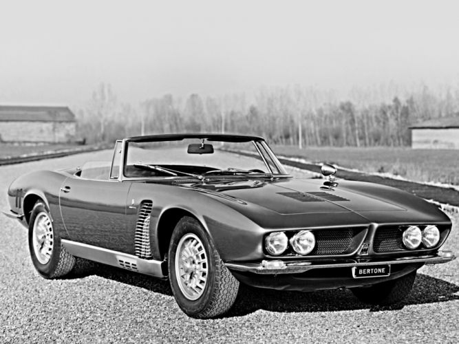 1966 Iso Grifo Spider supercar classic muscle wallpaper