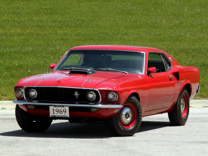 1969 Ford Mustang 428 Cobra Jet Sportsroof 63A muscle classic wallpaper