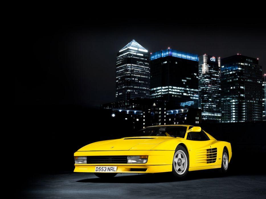 1984 Ferrari Testarossa supercar  g wallpaper