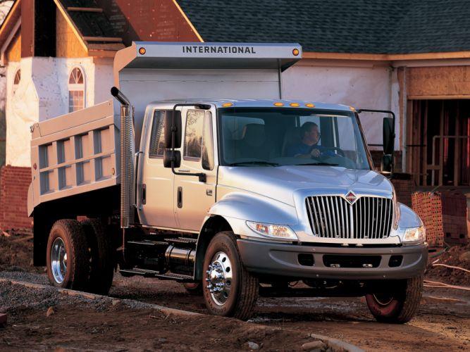 2002 International DuraStar 4300 Double Cab semi tractor g wallpaper