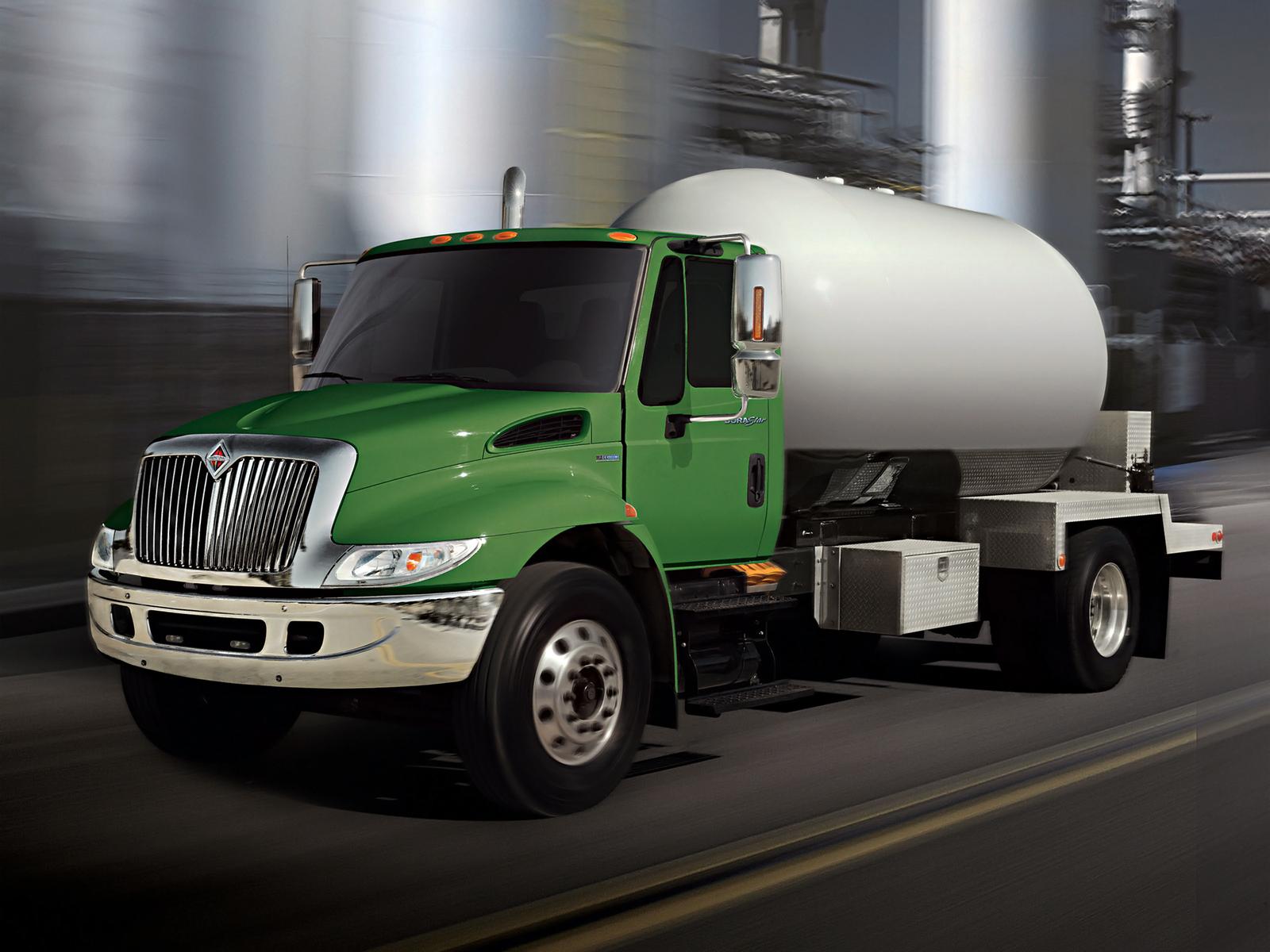 International 4300 Tractor : International durastar tanker semi tractor