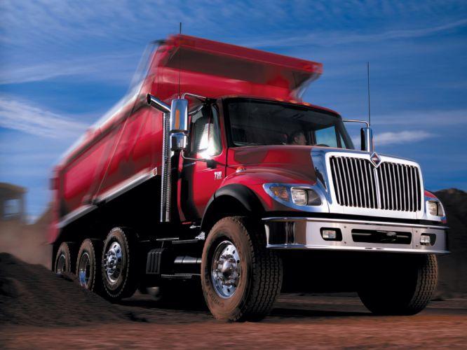 2005 International 7500 DumpTruck semi tractor g wallpaper