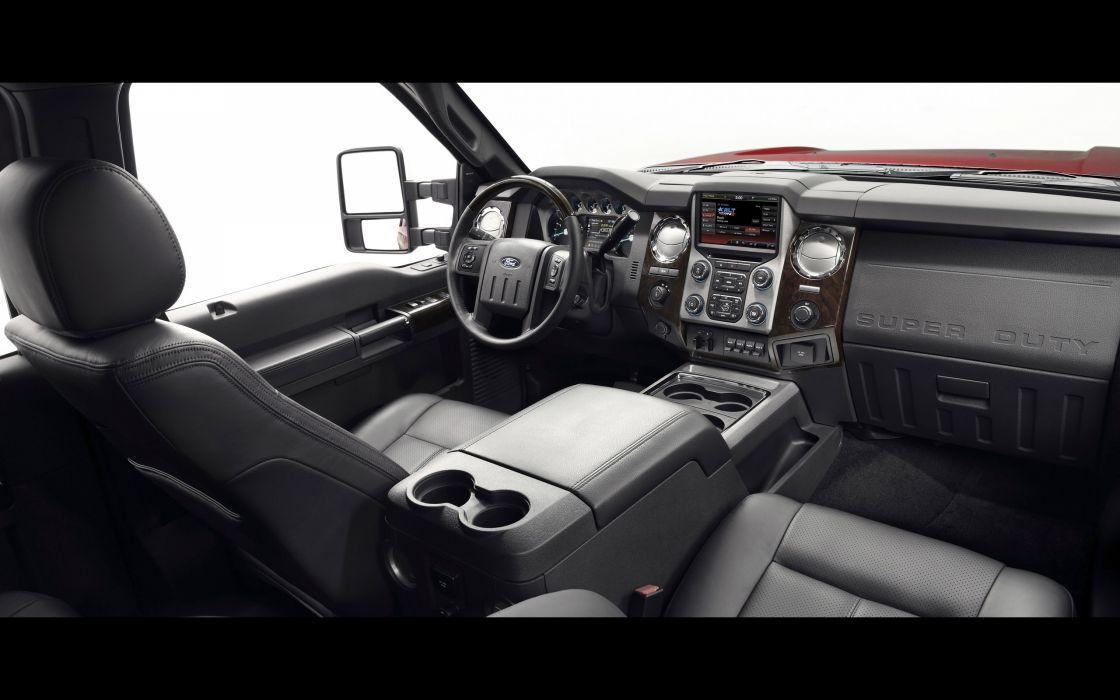 2014 Ford F-Series Super Duty pickup interior      r wallpaper
