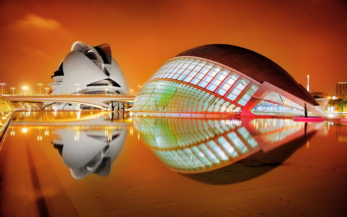 Architecture City of Art and Science Valencia wallpaper