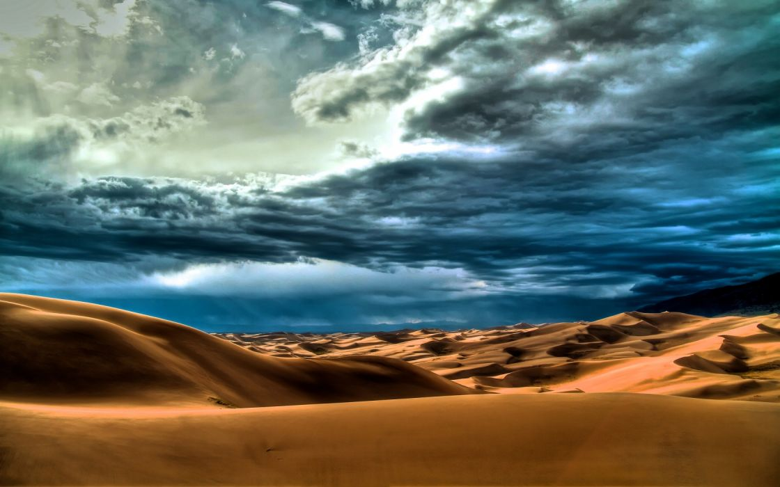 Desert Dunes Cloudy wallpaper