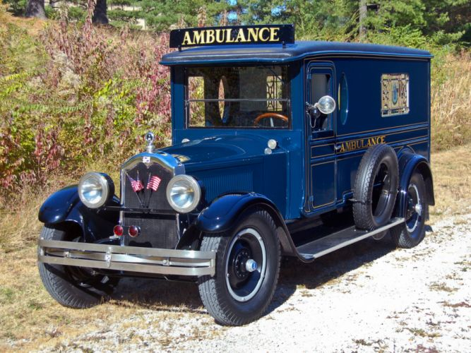 1926 Buick Ambulance by Hoover Carriage Company emergency retro wallpaper