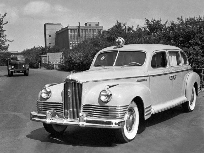 1947 ZIS 110A Ambulance emergency retro wallpaper
