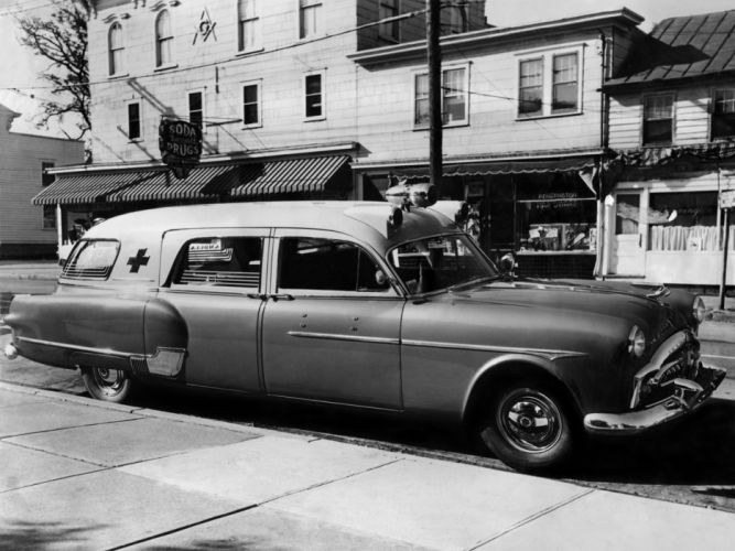1951 Packard 300 Ambulance by Henney 2413-5194 emergency retro f wallpaper