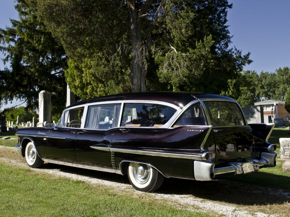 1958 Cadillac Superior Beau Monde Combination 8680S ambulance hearse retro emergency   f wallpaper