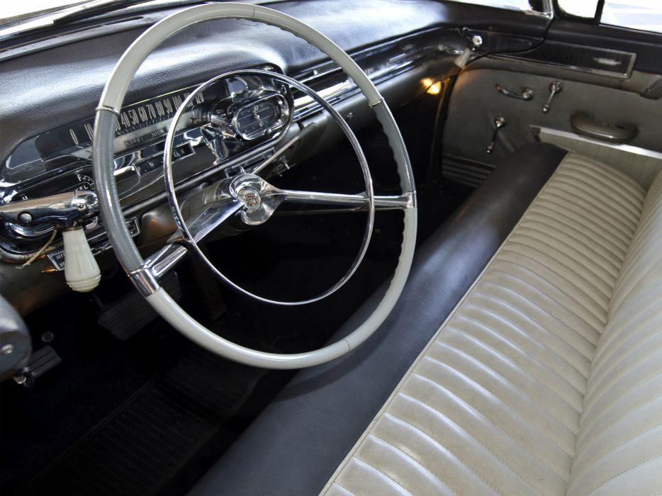 1958 Cadillac Superior Beau Monde Combination 8680S ambulance hearse retro emergency interior wallpaper
