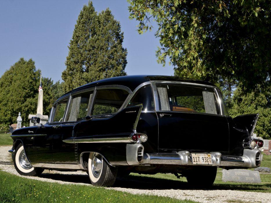 1958 Cadillac Superior Beau Monde Combination 8680S ambulance hearse retro emergency   fs wallpaper