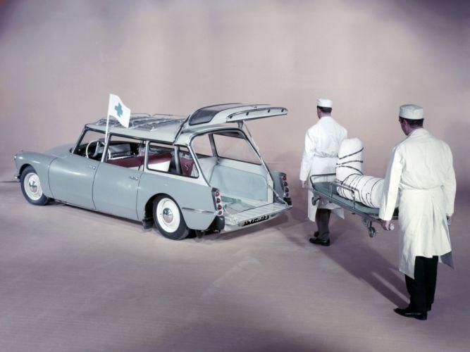 1960 Citroen ID-19 Ambulance classic emergency stationwagon wallpaper