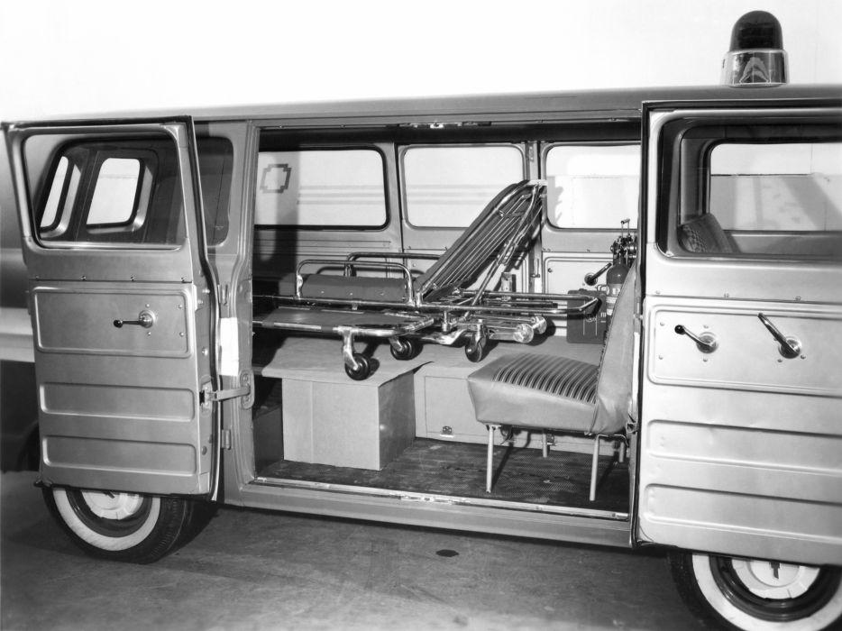 1961 Chevrolet Corvair Greenbrier Amblewagon ambulance classic emergency interior       g wallpaper