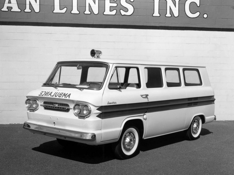 1961 Chevrolet Corvair Greenbrier Amblewagon ambulance classic emergency wallpaper