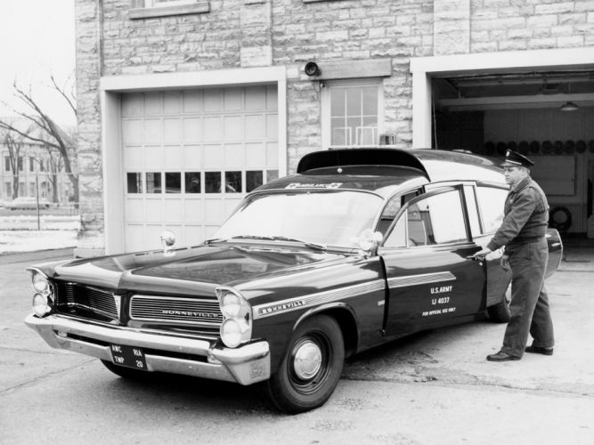 1963 Pontiac Bonneville Military Ambulance by Superior classic emergency wallpaper