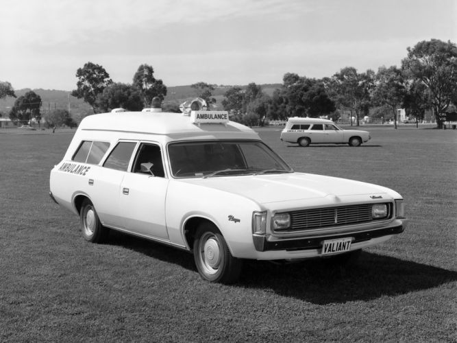 1971 Chrysler Valiant Ranger Ambulance classic emergency stationwagon wallpaper