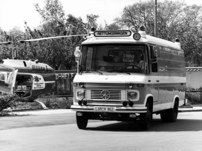 1977 Mercedes Benz L613D Rettungswagen 310 Ambulance emergency wallpaper