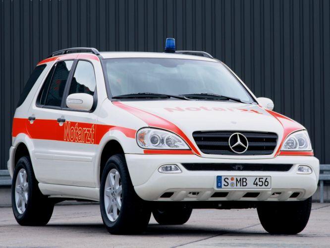 2001 Mercedes Benz M-Klasse Notarzt W163 ambulance emergency suv wallpaper