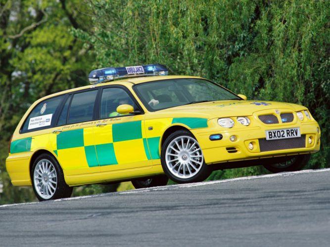2001 MG ZT-T Ambulance emergency stationwagon m-g wallpaper