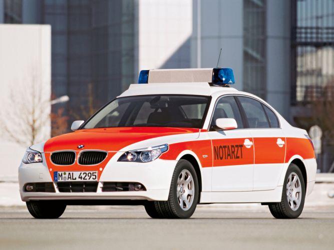 2003 BMW 5-Series Sedan Notarzt E60 emergency ambulance wallpaper