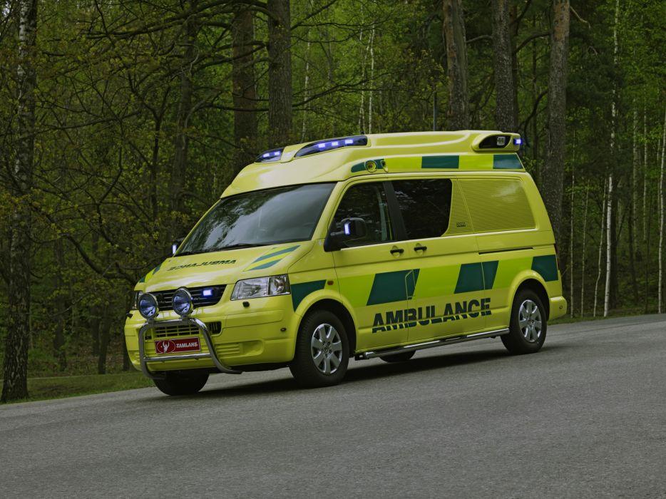 2004 Tamlans Volkswagen T5 Ambulance emergency wallpaper