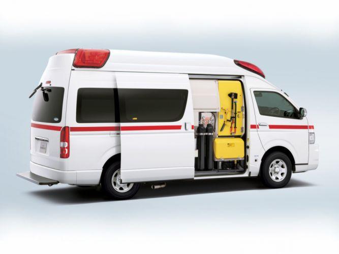 2004 Toyota Hiace Himedic JP-spec ambulance emergency interior v wallpaper