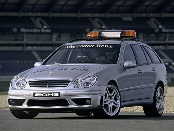 2005 Mercedes Benz C55 AMG Estate F-1 Medical Car S203 emergency stationwagon ambulance tuning race racing formula one wallpaper