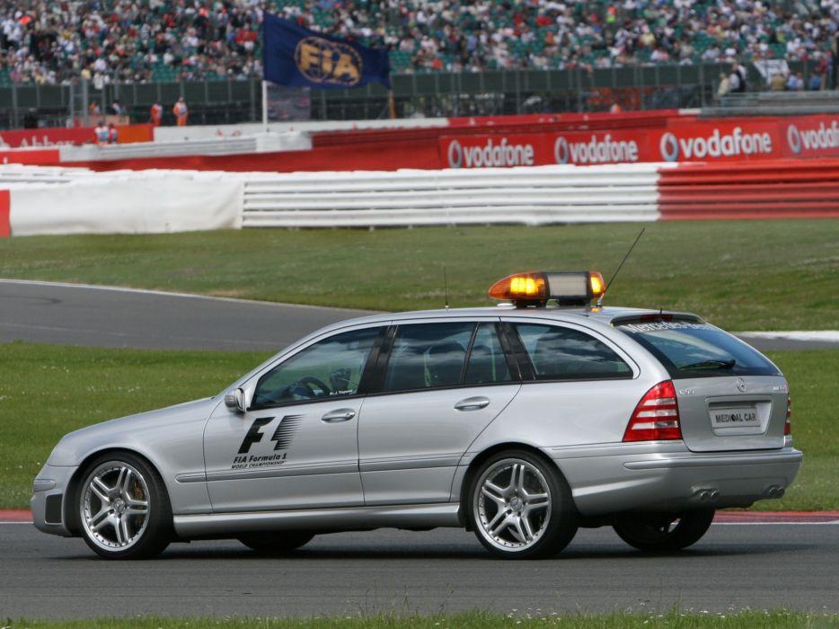 2005 Mercedes Benz C55 AMG Estate F-1 Medical Car S203 emergency stationwagon ambulance tuning race racing formula one   fs wallpaper