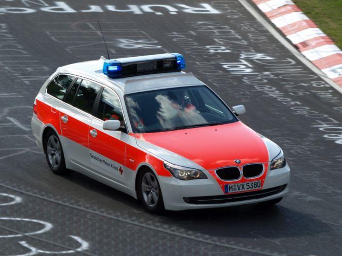 2007 BMW 5-Series Touring Notarzt E61 ambulance stationwagon emergency wallpaper