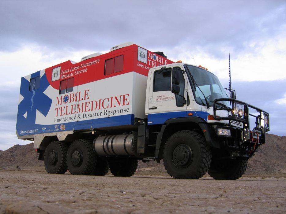 2007 Unicat Mercedes Benz Unimog U500 6x4 DRV63 firetruck ambulance emergency   g wallpaper