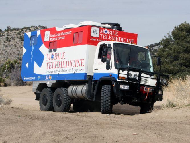 2007 Unicat Mercedes Benz Unimog U500 6x4 DRV63 firetruck ambulance emergency fe wallpaper