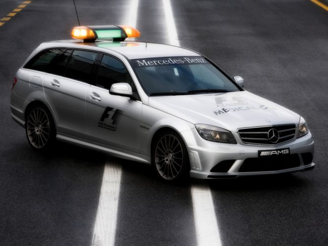 2008 Mercedes Benz C63 AMG Estate F-1 Medical Car S204 race racing formula one stationwagon emergency f wallpaper