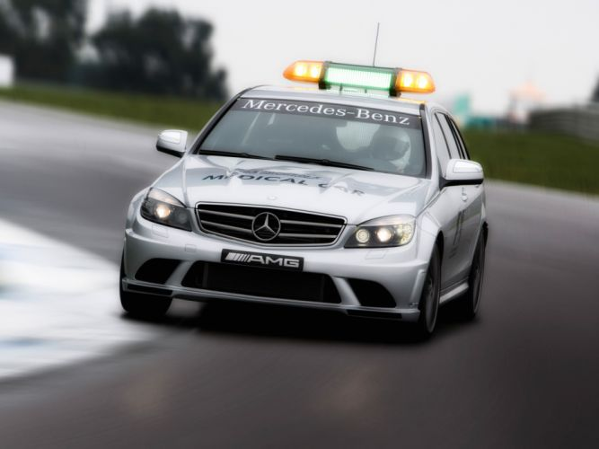 2008 Mercedes Benz C63 AMG Estate F-1 Medical Car S204 race racing formula one stationwagon wallpaper