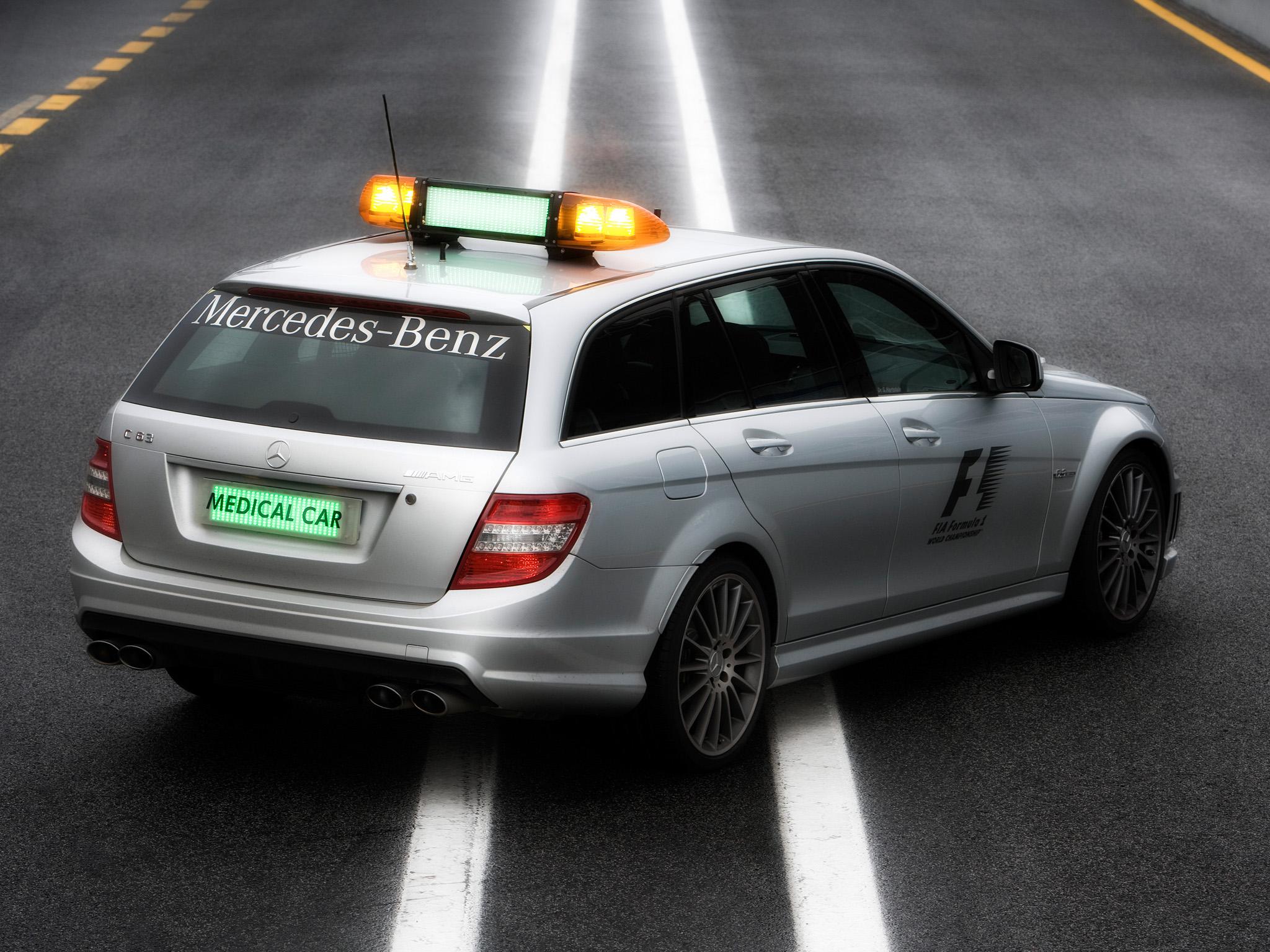 2008 Mercedes Benz C63 Amg Estate F 1 Medical Car S204 Race Racing Formula One Stationwagon Emergency G Wallpaper 2048x1536 151486 Wallpaperup