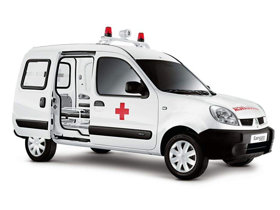2008 Renault Kangoo Express Ambulancia BR-spec ambulance emergency wallpaper