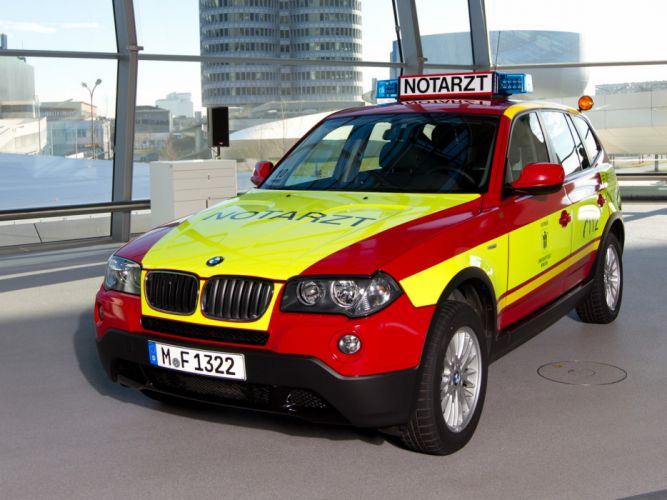 2009 BMW X3 Notarzt E83 ambulance emergency stationwagon wallpaper