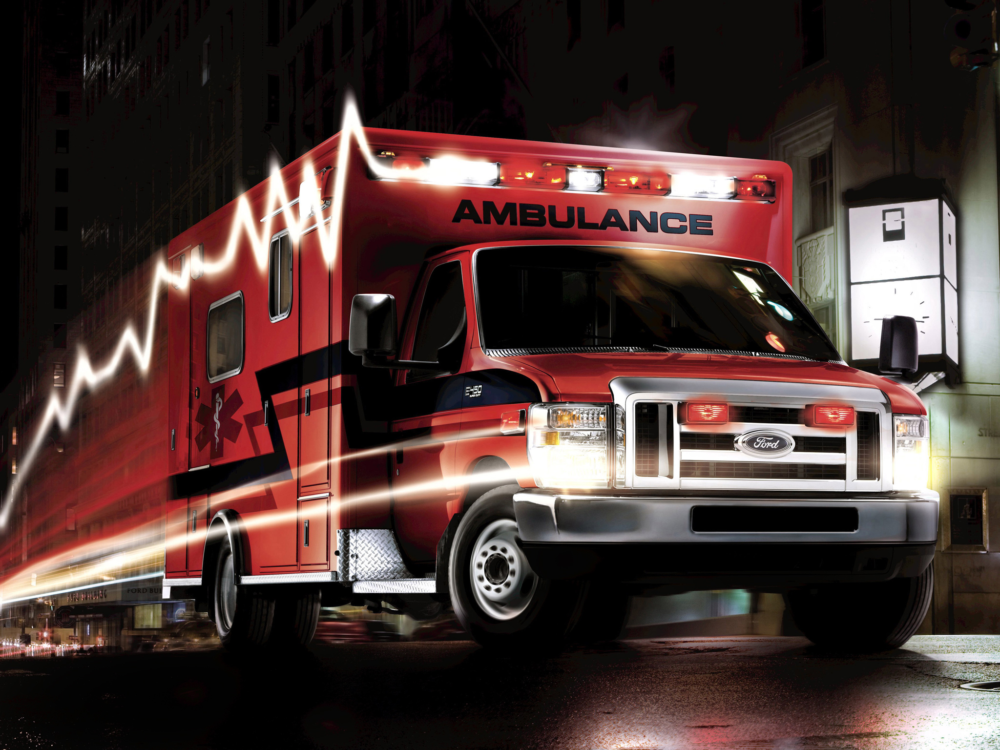 2009 Ford E-450 Super Duty Ambulance firetruck emergency wallpaper