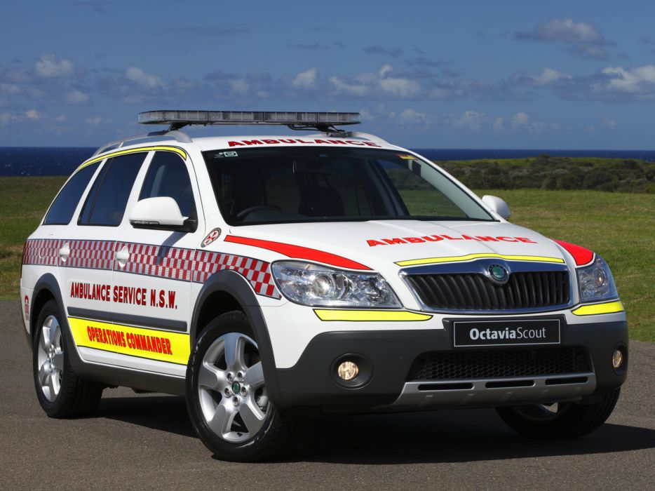 2009 Skoda Octavia Scout Ambulance 1Z emergency stationwagon wallpaper