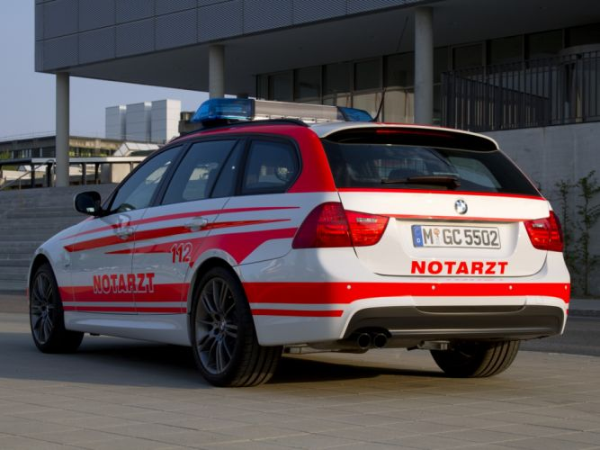 2011 BMW 3-Series Touring Notarzt E91 ambulance emergency stationwagon f wallpaper