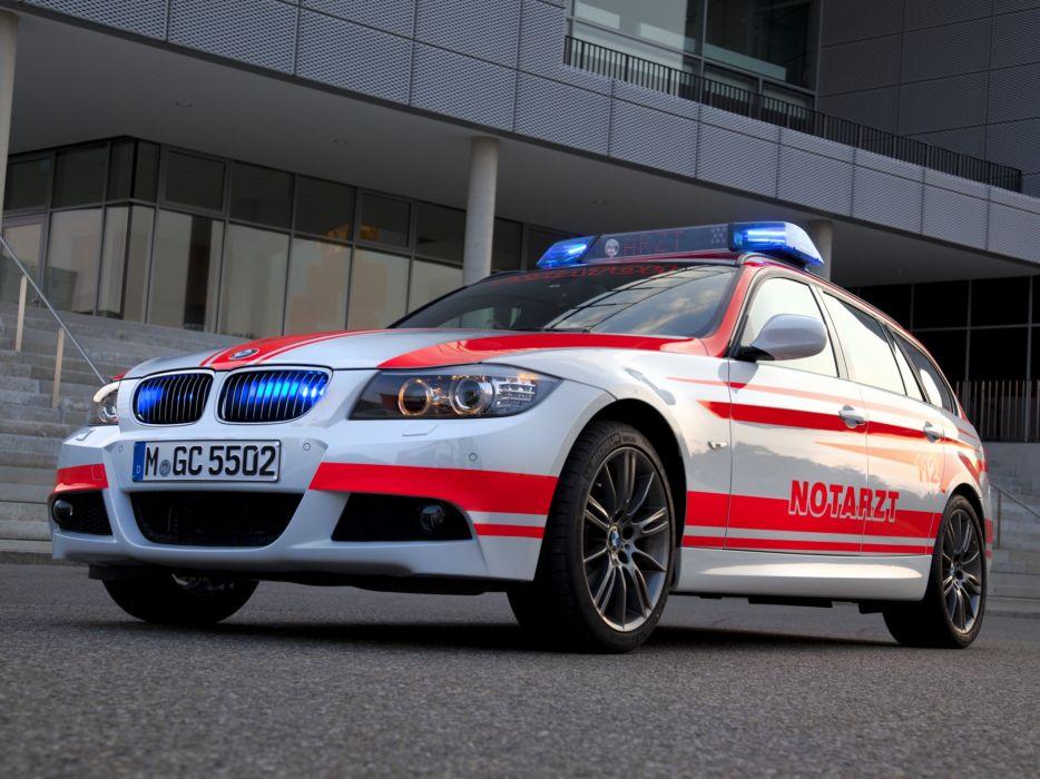 2011 BMW 3-Series Touring Notarzt E91 ambulance emergency stationwagon wallpaper