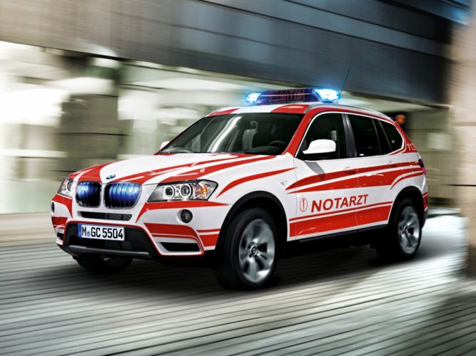 2011 BMW X3 xDrive20d Notarzt F25 ambulance emergency x-3 suv wallpaper