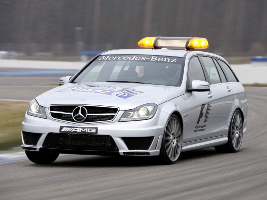 2011 Mercedes Benz C63 AMG Estate F-1 Medical Car S204 race racing formula one stationwagon      g wallpaper