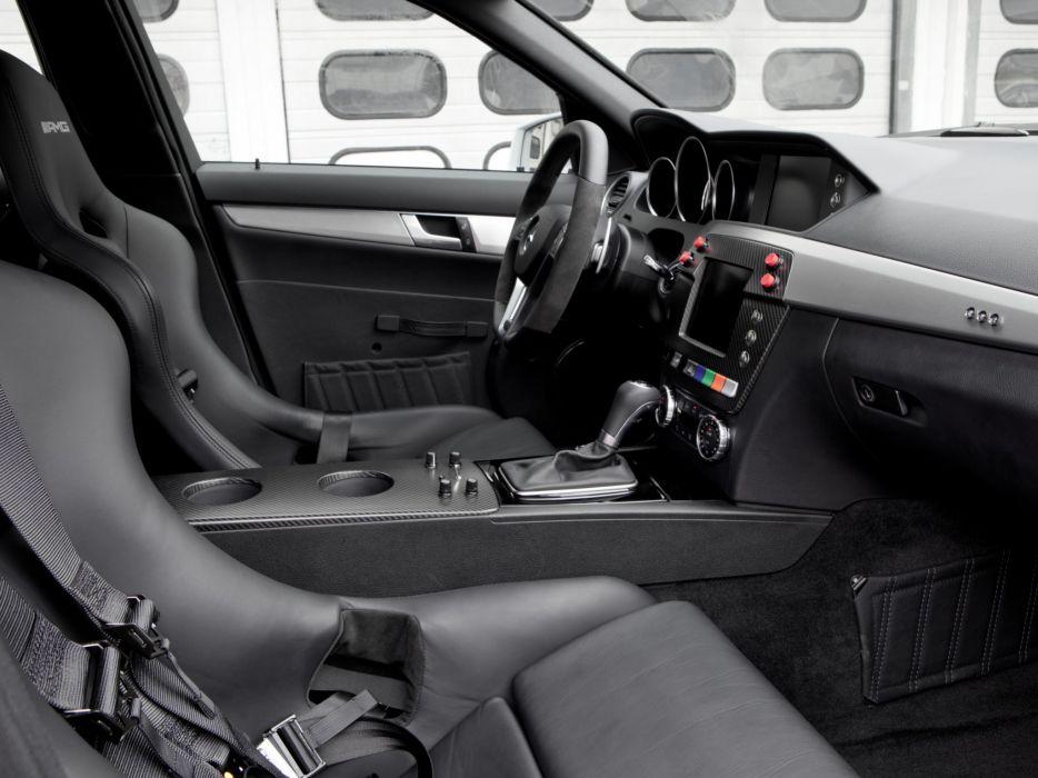 2011 Mercedes Benz C63 AMG Estate F-1 Medical Car S204 race racing formula one stationwagon interior     g wallpaper