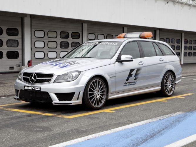 2011 Mercedes Benz C63 AMG Estate F-1 Medical Car S204 race racing formula one stationwagon h wallpaper